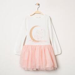 Μακρυμάνικο φόρεμα 2 σε 1 με τυπωμένο κύκνο