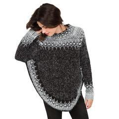 Πλεκτό πουλόβερ εγκυμοσύνης σε στυλ πόντσο