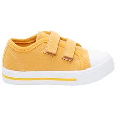 Baskets jaunes en toile à scratchs du 24 au 35 , SAXO BLUES