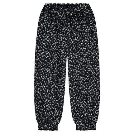 Άνετο παντελόνι με φλοράλ μοτίβο σε όλη την επιφάνεια