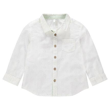 Μακρυμάνικο πουκάμισο με εμπριμέ μοτίβο σύννεφα