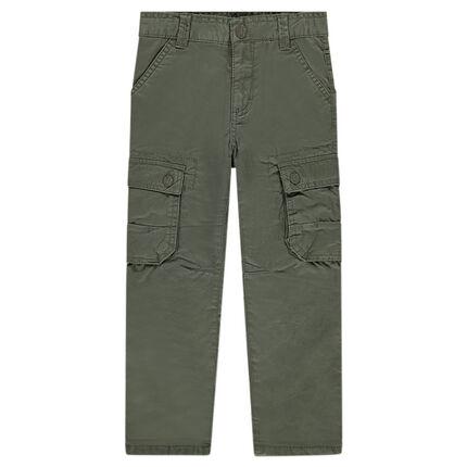 Υφασμάτινο παντελόνι με τσέπες στα μπατζάκια