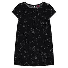 Αμάνικο κοτλέ φόρεμα με ασημί αστέρια