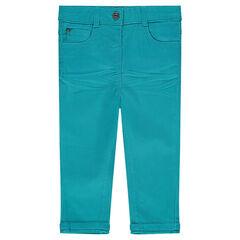 Παντελόνι slim από ύφασμα τουίλ