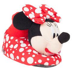 Λούτρινα παντοφλάκια πουά με τη Minnie της Disney, σε μεγέθη από 28 έως 35