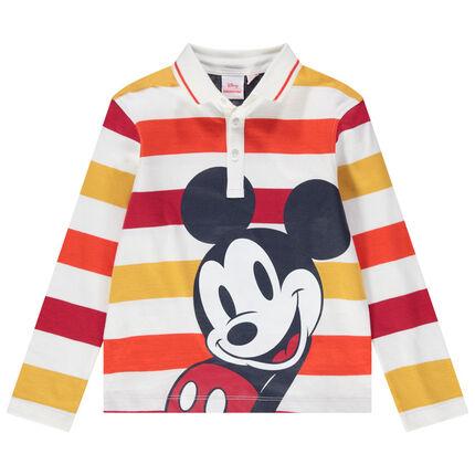 Μακρυμάνικο ζέρσεϊ πόλο με ρίγες και στάμπα Μίκυ της Disney