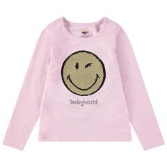 Μακρυμάνικη ζέρσεϊ μπλούζα με μοτίβο Smiley από «μαγικές» πούλιες