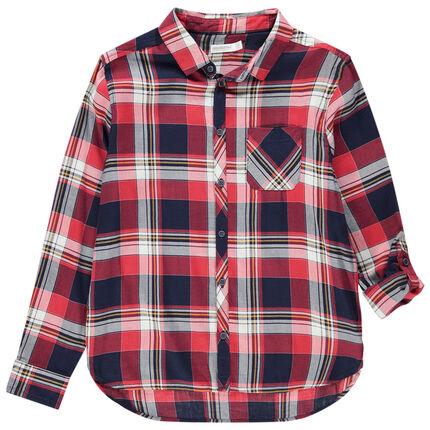 Μακρυμάνικο καρό πουκάμισο