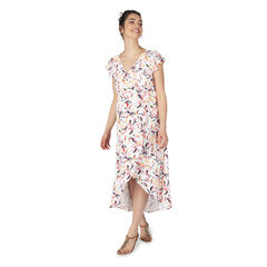 Μακρυ φόρεμα εγκυμοσύνης με βολάν στα μανίκια και εμπριμέ μοτίβο