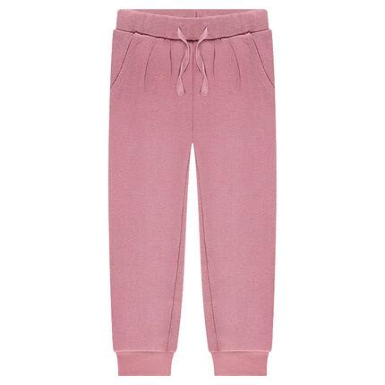 Παιδικά - Μονόχρωμο φανελένιο παντελόνι φόρμας