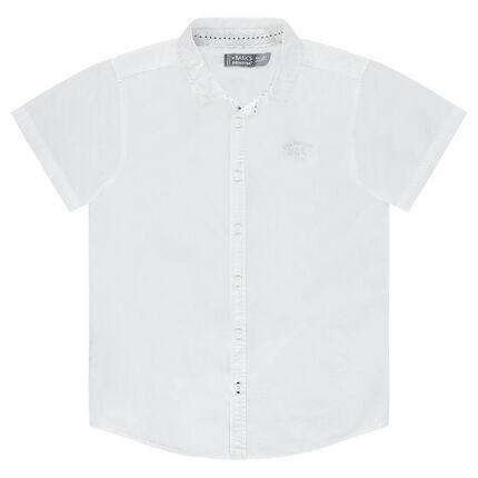 Παιδικά - Μονόχρωμο κοντομάνικο πουκάμισο