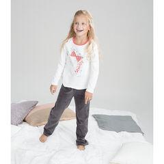 Δίχρωμη βελουτέ πιτζάμα με τυπωμένη πριγκίπισσα