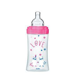 Biberon Sensation+ 270 ml 0-6 mois - Fuchsia Love