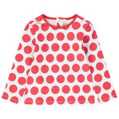 Μακρυμάνικη μπλούζα με πουά μοτίβο
