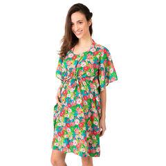 Φόρεμα για την παραλία με τυπωμένα λουλούδια σε όλη την επιφάνεια