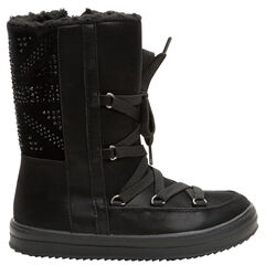 Χαμηλές μπότες με γούνινη επένδυση σε στυλ après-ski και κορδόνια, από 28 έως 35
