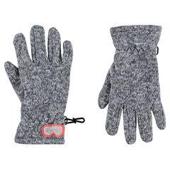 Εκτεινόμενα πλεκτά γάντια μελανζέ