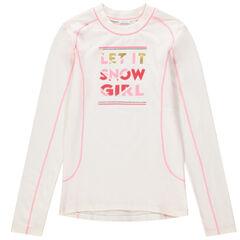 Παιδικά - Μακρυμάνικη μπλούζα του σκι από ζέρσεϊ με χνουδωτή υφή