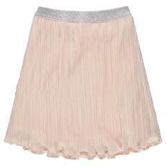 Πλισέ φούστα με ασημί λάστιχο στη μέση