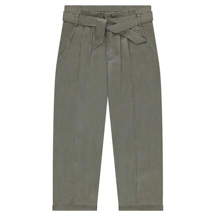 Χαμηλοκάβαλο παντελόνι σε χυτή γραμμή από tencel