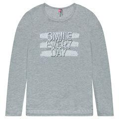 Παιδικά - Μακρυμάνικη μπλούζα σε μακριά γραμμή με τυπωμένο μήνυμα