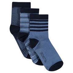 Σετ με 3 ζευγάρια κάλτσες ριγέ