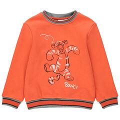Πορτοκαλί φανελένιο φούτερ με στάμπα τον Τίγρη της Disney μπροστά και πίσω