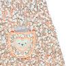 Πλεκτό φόρεμα με πλέξη ποπ κορν από μελανζέ νήμα