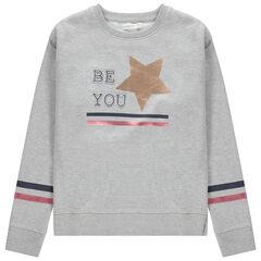 Παιδικά - Φανελένιο φούτερ με λωρίδες που κάνουν αντίθεση