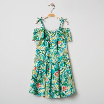 Φόρεμα εμπριμέ floral με ελεύθερους ώμους