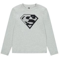 Παιδικά - Μακρυμάνικη μπλούζα με «μαγικές» πούλιες και σχέδιο Superman