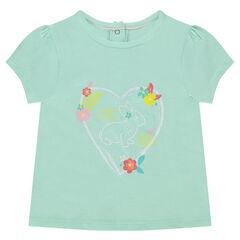 Κοντομάνικη μπλούζα με διακοσμητική στάμπα