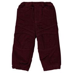 Παντελόνι από βελούδο κοτλέ με φλις επένδυση
