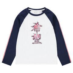 Παιδικά - Μακρυμάνικη μπλούζα από ζέρσεϊ με τυπωμένα κινέζικα σύμβολα