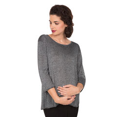 Πλεκτό εγκυμοσύνης από lurex με κρουαζέ πλάτη
