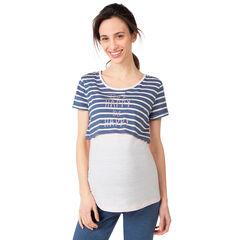 Μπλούζα εγκυμοσύνης και θηλασμού 2 σε 1 για το σπίτι