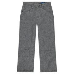 Μονόχρωμο φανελένιο παντελόνι σε ίσια γραμμή