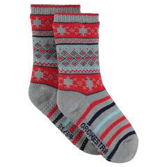Χριστουγεννιάτικες αντιολισθητικές κάλτσες με μοτίβο ζακάρ