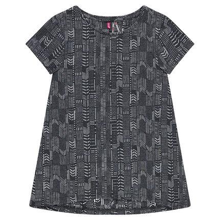 Παιδικά - Κοντομάνικη μπλούζα με έθνικ μοτίβο