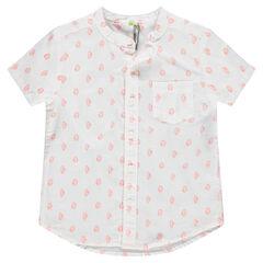Κοντομάνικο πουκάμισο εμπριμέ με κάκτους