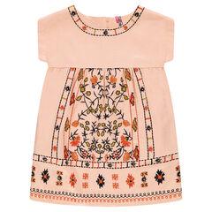 Βαμβακερό φόρεμα με κέντημα