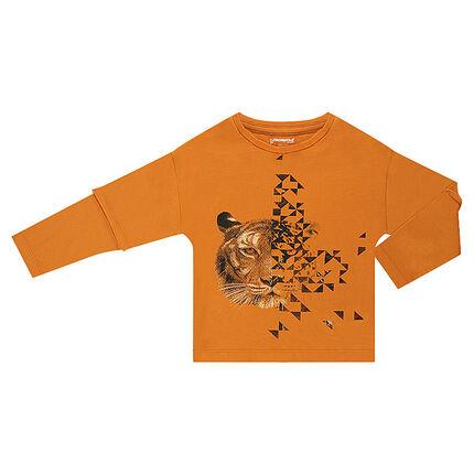 Μακρυμάνικη μπλούζα 2 σε 1 με τυπωμένη τίγρη