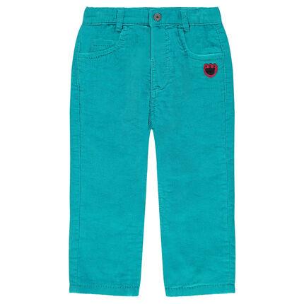 Κοτλέ βελούδινο παντελόνι με μπαλώματα