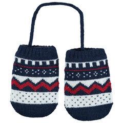 Πλεκτά εμπριμέ ενιαία γάντια με επένδυση από sherpa