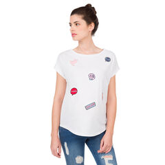 Κοντομάνικη μπλούζα εγκυμοσύνης με σήματα