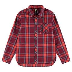 Παιδικά - Καρό πουκάμισο με φερμουάρ στην τσέπη