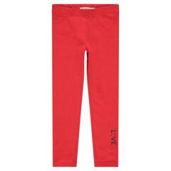 Ζέρσεϊ κολάν σε κόκκινο χρώμα με τυπωμένα γράμματα