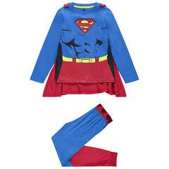 Pyjama déguisement en jersey avec cape amovible Superman Marvel