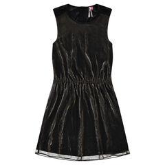 Αμάνικο φόρεμα με μεταλλιζέ όψη