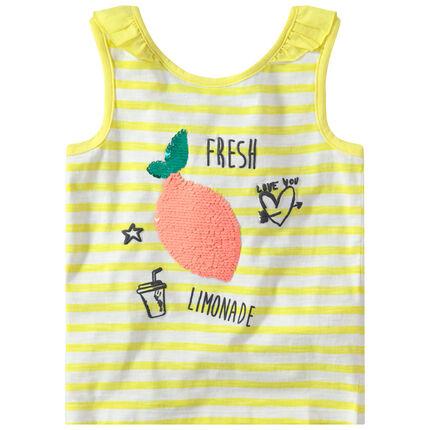 Αμάνικη ζέρσεϊ μπλούζα με φρούτο από «μαγικές» πούλιες